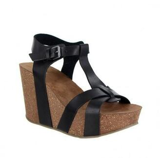 shoes black mia shoes wedges bikiniluxe