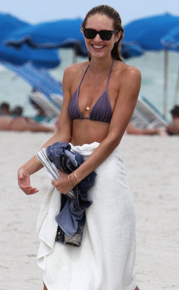 swimwear bikini candice swanepoel victoria's secret victoria's secret model beach jewels