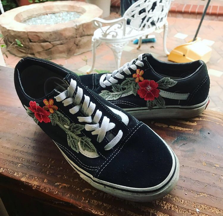 Embroidered Shoes Vans