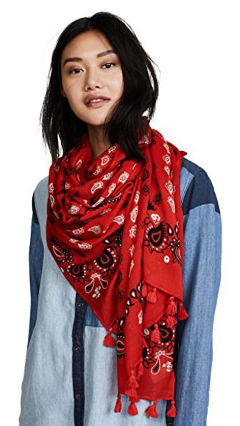 Rebecca Minkoff scarf paisley red