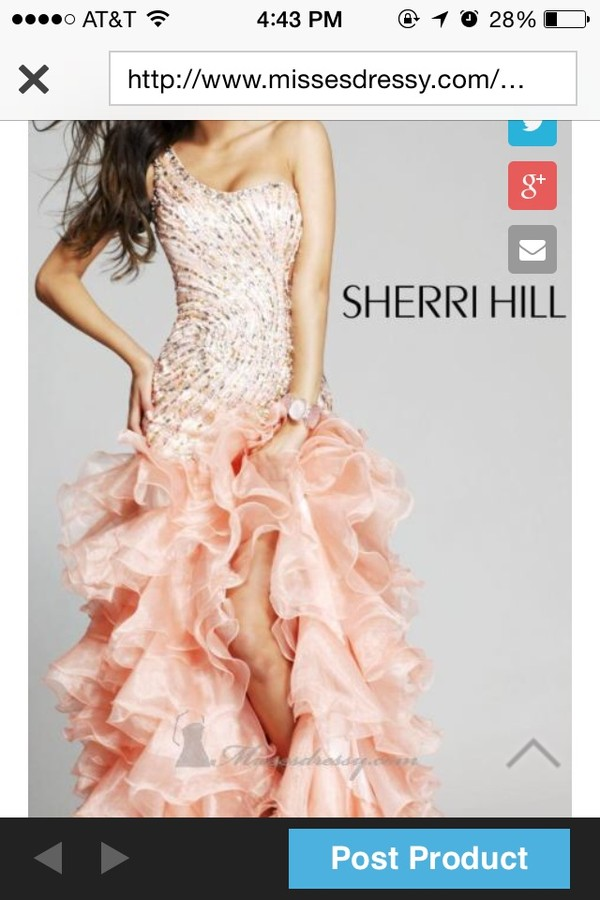 dress prom ruffle