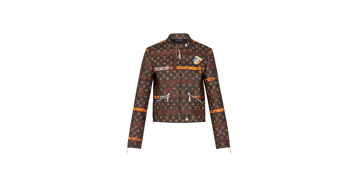 Products by Louis Vuitton: Trunk Print Leather Jacket