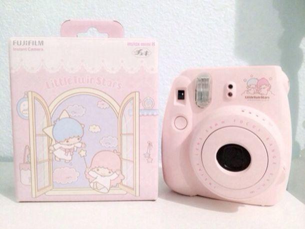 Jewels: camera, sanrio, pink, pink camera, fujifilm, polaroid ...