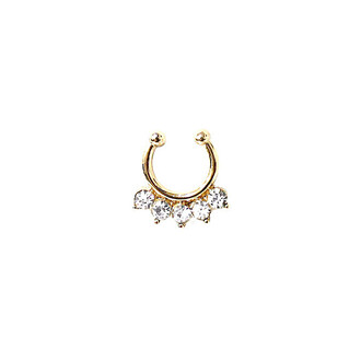 jewels accessories bikini luxe jewelry gold nose ring faux septum rings bikiniluxe