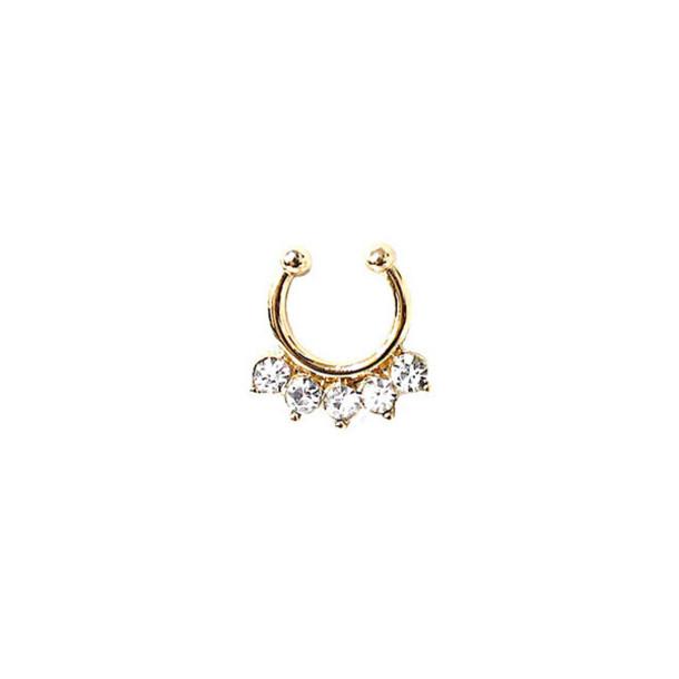 jewels accessories bikini luxe jewelry gold nose ring faux septum rings bikiniluxe