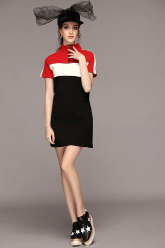 dress high crew collar zip