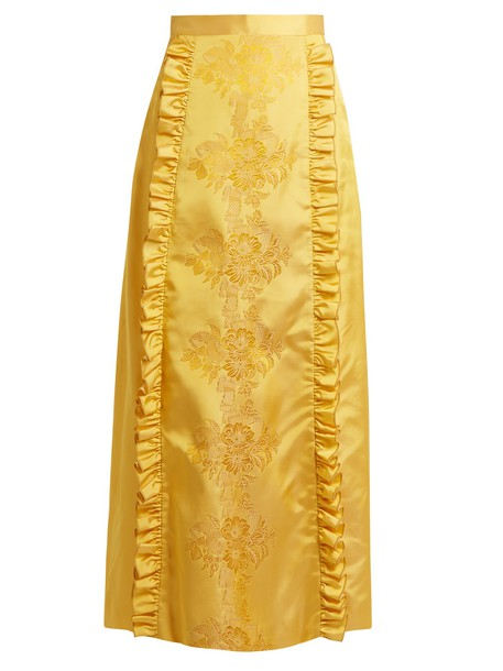 THE VAMPIRE'S WIFE skirt jacquard silk gold