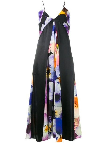 CHRISTOPHER KANE dress women print black silk