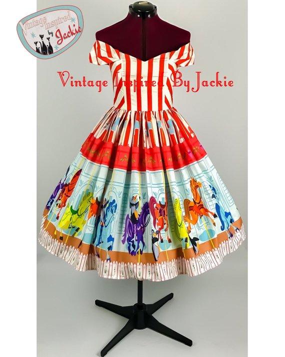 Poppins Carousel Disney Bound dress