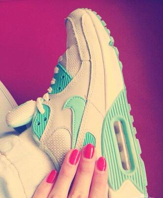 shoes air max 90 vert blanc 36