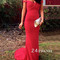 Red sweetheart neck long prom dresses, evening dresses - 24prom