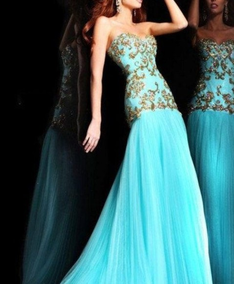 prom dress gorgeous mint