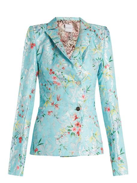 HALPERN jacket jacquard floral blue