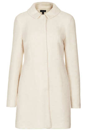 Boiled Wool Skirted Coat - Topshop USA