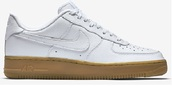 shoes,nike,nike shoes,nike air,nike air force 1,white nikes,gum sole,trainers,nikes,trendy,nike air force