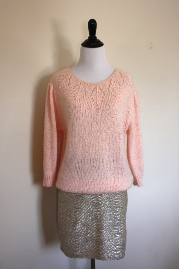 SALE Vintage Lana Del Rey Pink Sweater by LittleMissVintage3