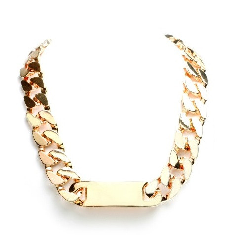 C*line Chunky Chain Choker ID Necklace – Glamzelle