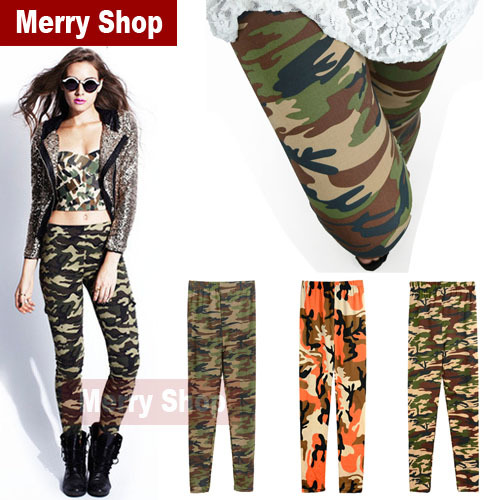 2014 New Fashion Summer Spring Military Army Style Leggings For Women army pants for women military pants woman pants-in Leggings from Apparel & Accessories on Aliexpress.com