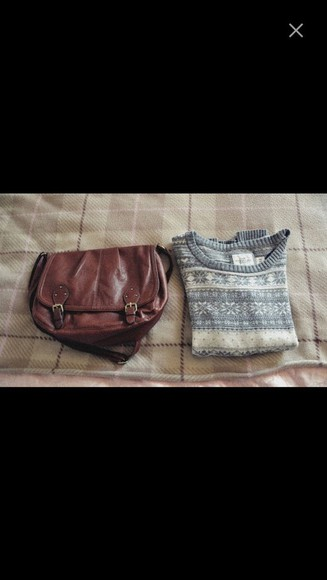 bag brown bag cuire brown vintage