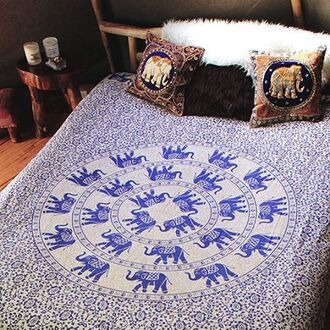 home accessory bed throw throw queen throw queen bed mandala elephant elephant print by the moon peppermayo