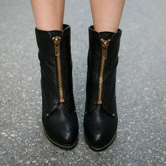 shoes boot zip fashion high heel