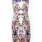 Roberto cavalli floral print fitted dress, women's, size: 42, white, spandex/elastane/viscose