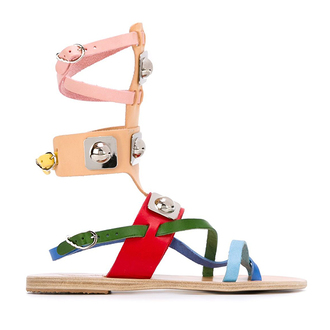 shoes multicolor sandals gladiators multicolor leather sandals