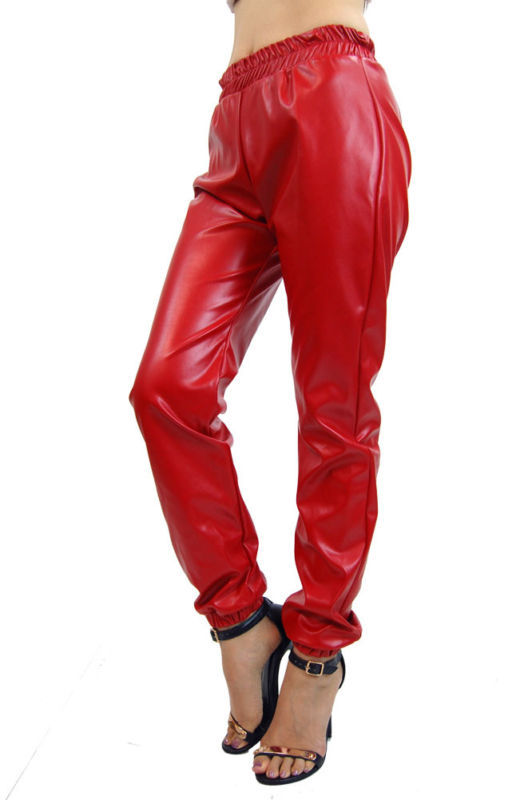 Lethalbeauty Faux Leather Vinyl Joggers