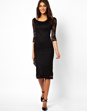 ASOS | ASOS Bardot Lace Midi Dress at ASOS