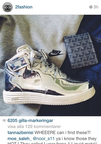 shoes nike force silver nike glow in the dark fabulous gangsta