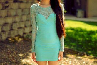 dress sweetheart dresses mint lace dress lace bodycon dress bodycon dress sweetheart neckline long sleeve dress gorgeous