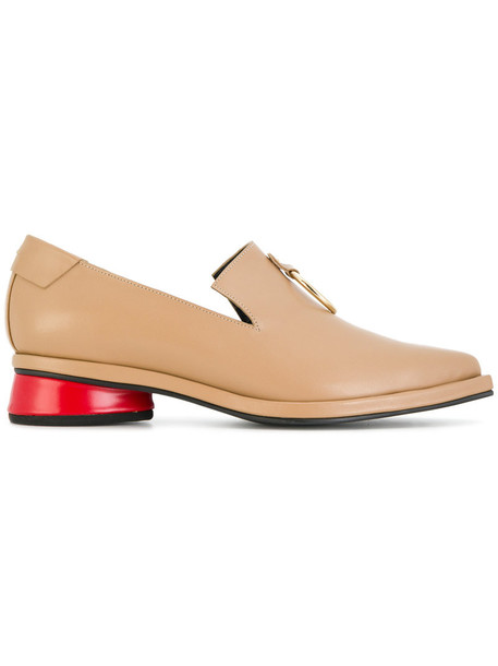 Reike Nen women loafers leather nude shoes