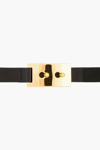 waist black belt women belts and suspenders gold elastic buckle