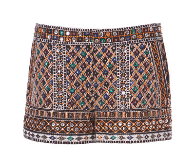 STONES EMBROIDERED SHORTS - Shorts - Woman - ZARA Canada (CA$99.00) - Svpply