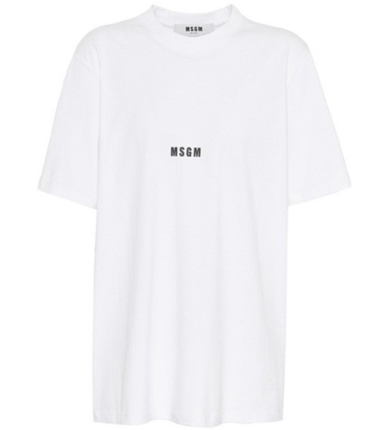 t-shirt shirt cotton t-shirt t-shirt cotton white top