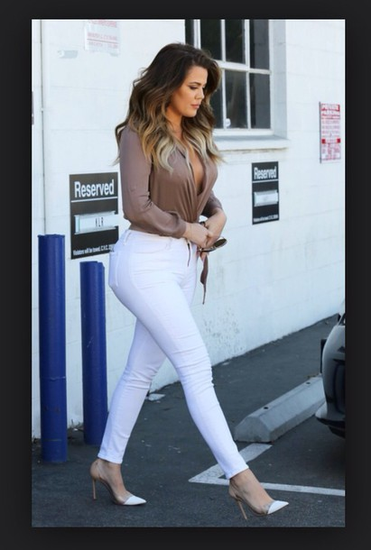 Shoes Khloe Kardashian Pointy Heels Nude High Heels White Heels