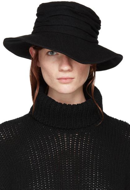 Ys hat black wool