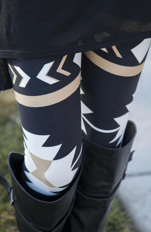 pants leggings aztec leggings