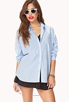 Boyfriend Pinstriped Dress Shirt | FOREVER21 - 2040496314