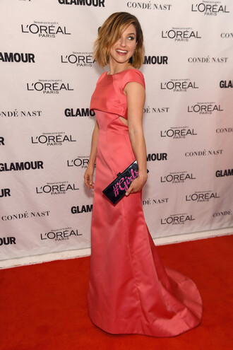 bag clutch gown prom dress sophia bush red carpet dress