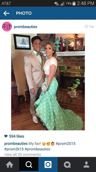 dress polka dots prom dress