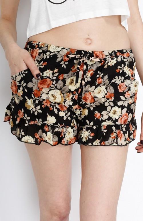 Taupe Floral Shorts — Gatzino