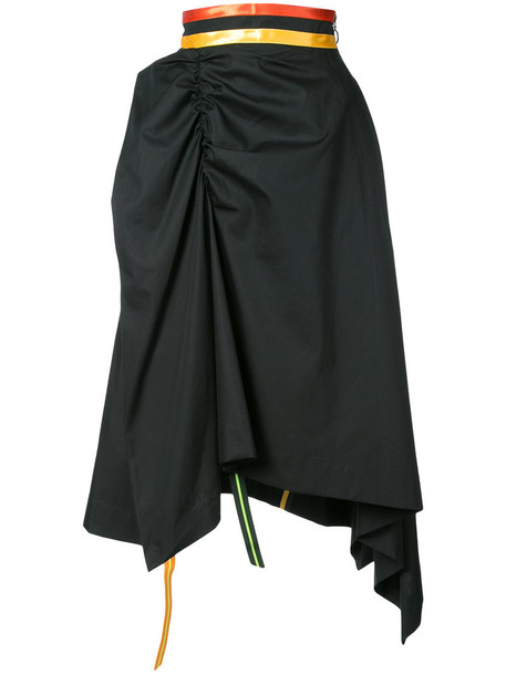 Martina Spetlova skirt women cotton black silk satin