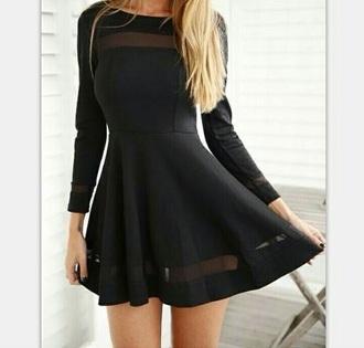 dress black dress sheer