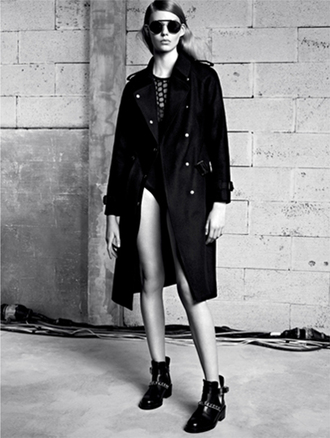 coat sandro f/w 2013 lookbook fashion tank top shoes