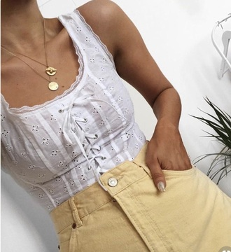 top white top lace top lace