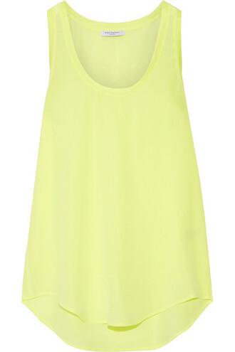 neon silk yellow bright top