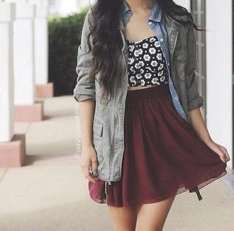 shirt daisies blackandwhite fliwers crop tops love cute girly girly shirt