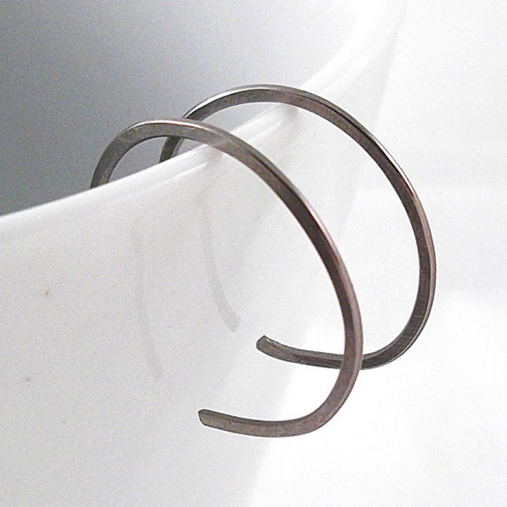 Tiny Niobium Hoop Earrings