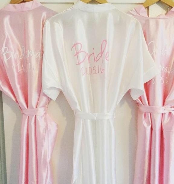 pajamas, bridesmaid, dressing gown, dressing robe, wedding, maid of ...